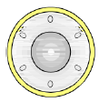Поворотный пеерключатель с желтой подсветкой