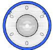 Поворотный перекдючатель с синей подсветкой