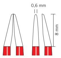 Биполярные пинцеты KLS Martin nonStick red