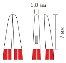 Биполярные пинцеты KLS Martin nonStick flush